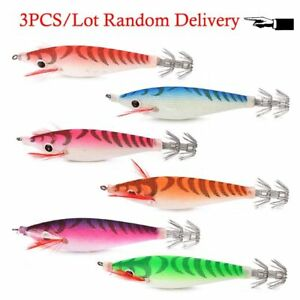 Squid Jig Fishing Bait Shrimp 3pcslot Artificial Fishing Lures Octopus 7cm