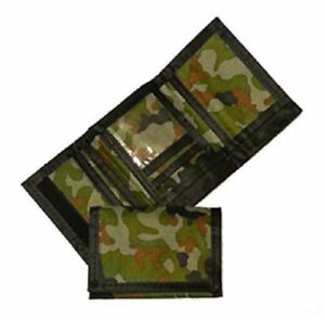 Army Camouflage Wallet Nylon Trifold Kids Wallets for Boys Camo Hunting $7.97