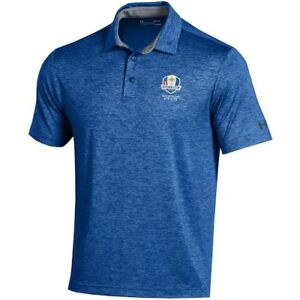 2020 Ryder Cup Under Armour Heathered Playoff Polo - Royal
