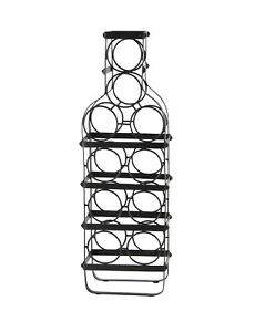 Winston Porter Stenberg Contemporary Iron 10 Bottle Tabletop Wine Rack