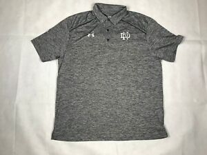 UNDER ARMOUR MENS L AF STEEL POLO DRI FIT GRAY TECH NWT 1288393 B9
