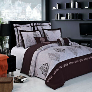 7 Pieces 100% Cotton Gizelle Embroidered Duvet Cover Set