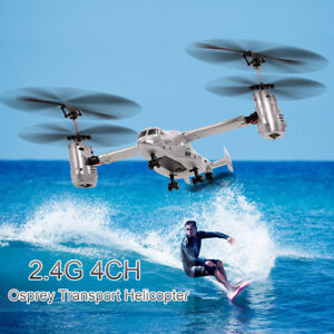 Remote Control Osprey Helicopter 2.4G 4CH Dual Axis RC Drone with Double B3R0