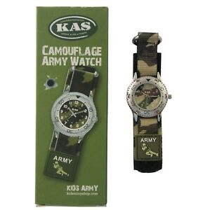 Kids Army Military Camo Camouflage Children's Wrist Watch Ideal Gift For Litt...