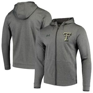 Texas Tech Red Raiders Under Armour Camo Left Chest Full-Zip Hoodie - Heathered