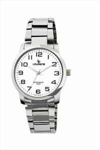 Laurens Men's R372J900Y Metal Band Analog White Dial Stainless Steel Bracelet Wa