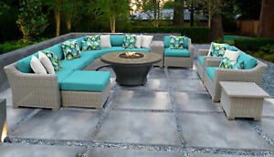 TK Classics Coast Outdoor 12 Piece Sectional Seating Group with Cushions