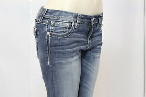 Women's Size 29/31 - MISS ME Signature Boot Stretch Jean - Style JE8666 - Bling