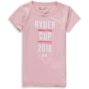 Under Armour Girls Youth 2018 Ryder Cup Tech Performance T-Shirt - Pink