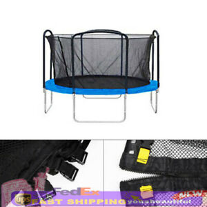 12FT Trampoline Net Replacement Bounce Jump Round Enclosure Soft Mesh Netting