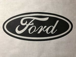 1 Ford Quilt Block Sewing Square 4 Blanket Throw Quilt Black Logo $12.99