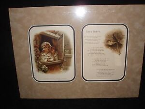 TWO MATTED ANTIQUE LITHOGRAPHS $69.00