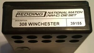 39155 REDDING 308 WINCHESTER NATIONAL MATCH DIE SET - BRAND NEW - FREE SHIP
