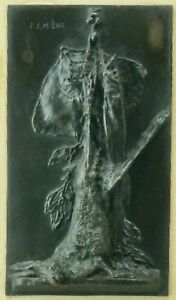 Pierre Jules Mene French Bronze Sculpture of Fish and Hunting Bag