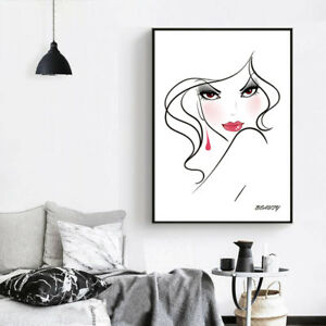 Nordic Abstract Minimalist Art Sexy Girl Canvas Poster Print Home Wall Decor