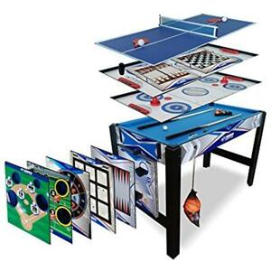 Triumph 13-in-1 Combo Game Table Includes Basketball Tennis Billiards Push