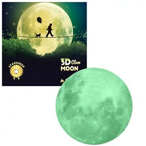 Glow in the Dark Stars with Glow Moon Decal Wall Stickers - Ceiling Stars Decor