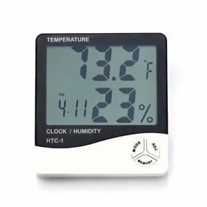 Home Wall LED Digital Alarm Temperature Thermometer Humidity Meter Hygrometer US