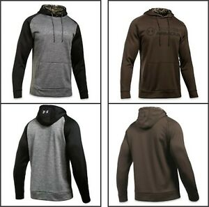 Under Armour Men's Storm Fleece Stacked Hoodie Pullover 2 colors new in stock