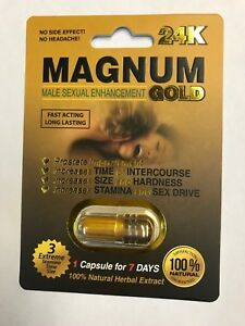 Magnum Gold 24K (Pack of 24 ) Sexual Enhancement Pills Made in U.S.A.