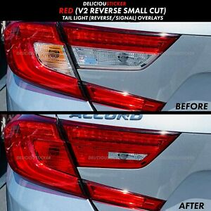 18 2020 ACCORD RED REVERSE Cut Out Rear Tail Light V2 Overlays Precut Tint Vinyl