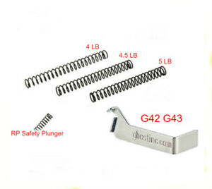 for GLOCK 42 43 43X 48 Ghost Edge Connector & Wolff Striker Springs Tuning Kit