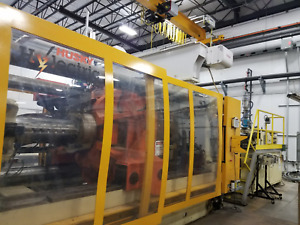 Two (2) 2002 880 Ton HUSKY Electric Injection Molding machines