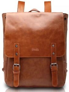 Women School Vintage Backpack Horse Leather Crazy Bag Fashion Genuine Leather