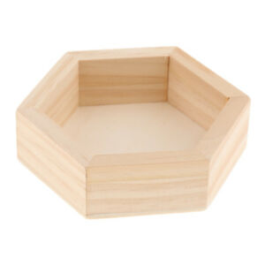 Wooden Hexagon Necklace Jewelry Display Tray Case Jewelry Storage Box S M L