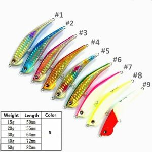 Luminous Shrimp Shaped Fishing Lures 15g 20g 40g 60g Metal Jig Artificial Bait