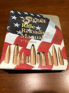 SIERRA Rifle Ammunition Reloading Data Manual 3rd Edition With 3 Ring Binder