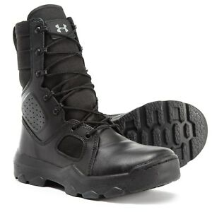 Under Armour FNP Zip Tactical Boots (10 11) Mens Black Police Military Leather