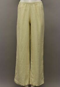FLAX WEDDINGS LINEN LONG FLOWING PANTS FRENCH VANILLA BISCUIT PETITE