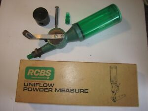 RCBS UNIFLOW POWDER MEASURE - LARGE & SMALL CYLINDERS