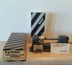 Vintage Lyman Universal Case Trimmer ~ Original Items Plus 11 Extra Pilot Tools!