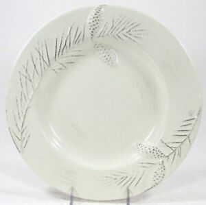 Target Holiday 2010 BIRCHWOOD CHALET Dinner Plate Pinecone *EXCELLENT