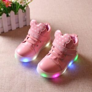 Children Shoes With Lights Boys Girls Led Luminous Sneakers Kids Light Up Shoes $32.50