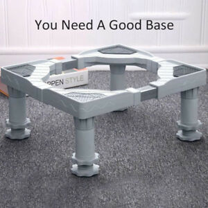 Universal Adjust Washing Machine Fridge Base Laundry Pedestal Raised Stand 2019