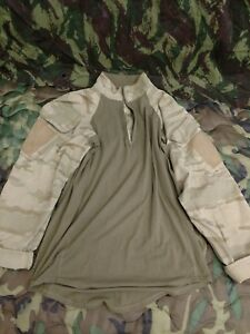 Belgian Army Desert Combat Shirt Top Camo Belgium MEDIUM