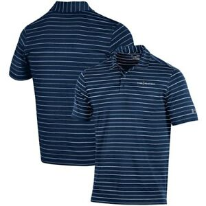 Men's Under Armour NavyGray THE PLAYERS Stripe 2.0 Performance Polo