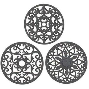 3 Trivets Set Silicone Multi-Use Intricately Carved Mat For Hot Dishes Kitchen