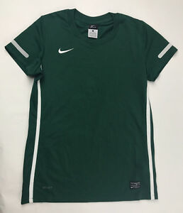 New Nike Federation Soccer Training DRI-FIT SS Shirt Girl's Large Green 413183