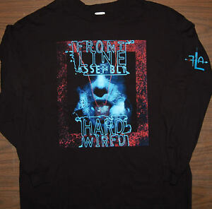Long Sleeve T-Shirt - FRONT LINE ASSEMBLY - Hard Wired - Size L -  NEW Tee -