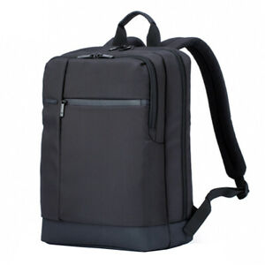 Polyester 17L Classic Business Style Men Laptop Backpack Black
