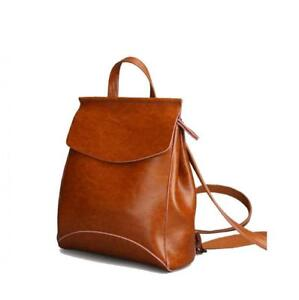 Fashion Women Anti-Theft Shoulder Handbag Genuine Leather Backpack Casual Bag