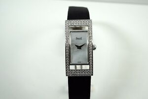 PIAGET LIMELIGHT  18K WHITE GOLD WITH DIAMONDS MOP DIAL LADIES C. 2000'S