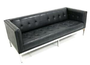Knoll Patrician Black Mid Century Mordern Sofa Couch Loveseat Settee Chaise Bed