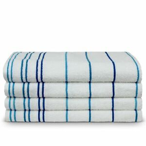 Turkish Cotton 35x70-inch Striped Beach Towels (set of 4)