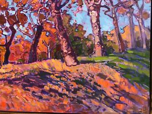 "Erin Hanson Oil Painting 48x30 ""Autumn Orange"""