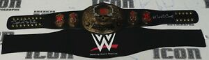 Stone Cold Steve Austin Signed WWE Smoking Skull Replica Title Belt BAS COA 6x